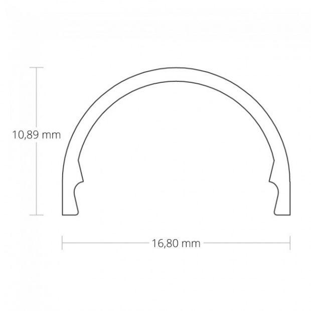 12mm led strip afdekking