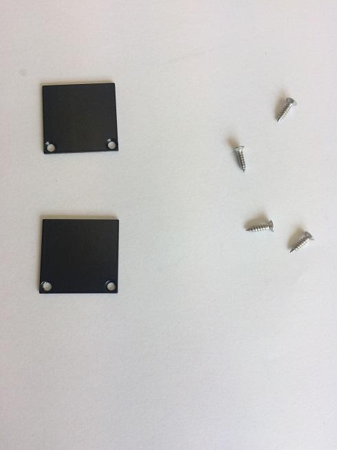 2 x LED profiel eindkapjes inclusief schroeven PL1 Spica – Zwart