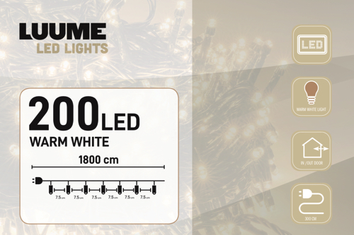 200 LED warm wit 01