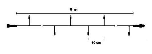 5meter kerstverlichting waterdicht