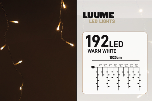 KerstXL 192 led ijspegel warm wit 03