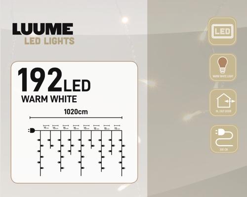 KerstXL 192 led ijspegel warm wit 04
