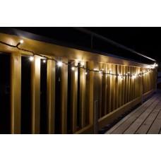 Koppelbare kerstverlichting 50 LED warm wit 5 meter voor binnen buiten