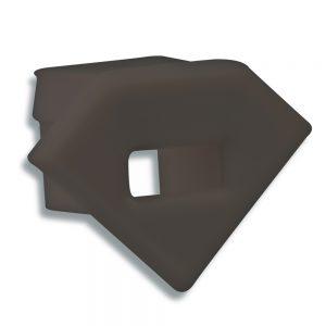 P23-eindkap-met-kabeldoorvoer-zwart