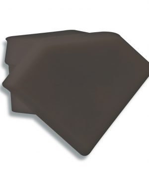 P23-eindkap-zonder-kabeldoorvoer-zwart