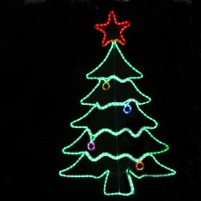 waterdichte kerstboom met gekleurde led lampjes
