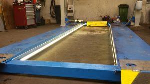 autogarage werkbrug led strips