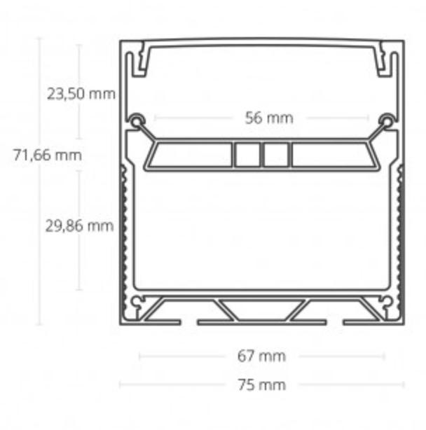 extra groot led profiel 70mm