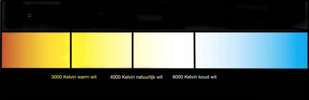 kleuren temperatuur kelvin led verlichting