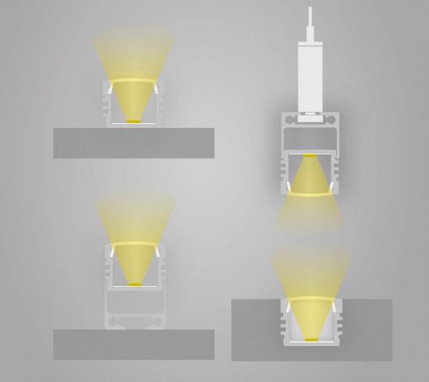 led profiel hoog model licht