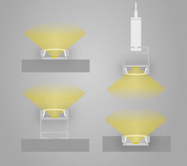 led profiel plat licht