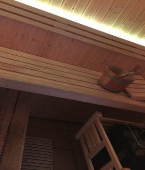 led verlichting sauna warm licht