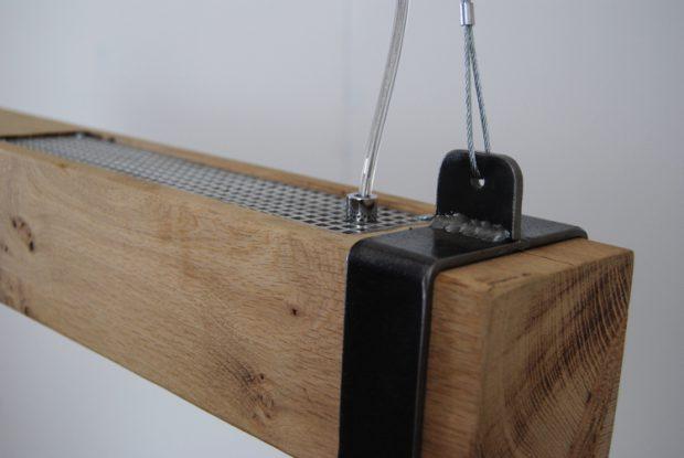 eikenhouten balk led lamp