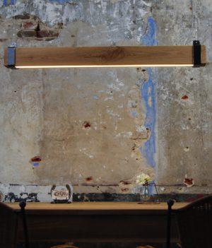hanglamp eikenhout led strip