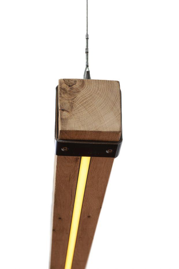 hanglamp houten balken