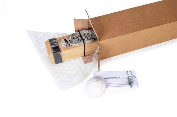 houten balk hanglamp