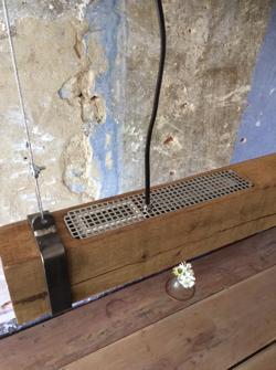 houten hanglamp led strip