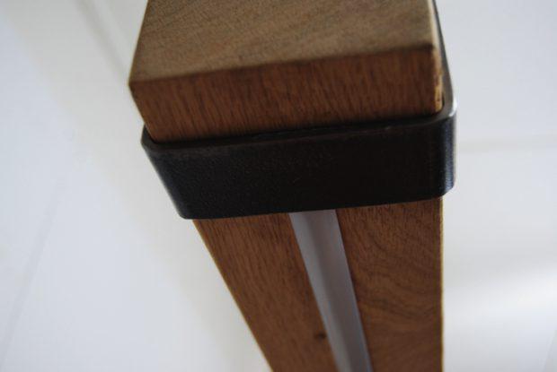 metalen eiken houten balk hanglamp