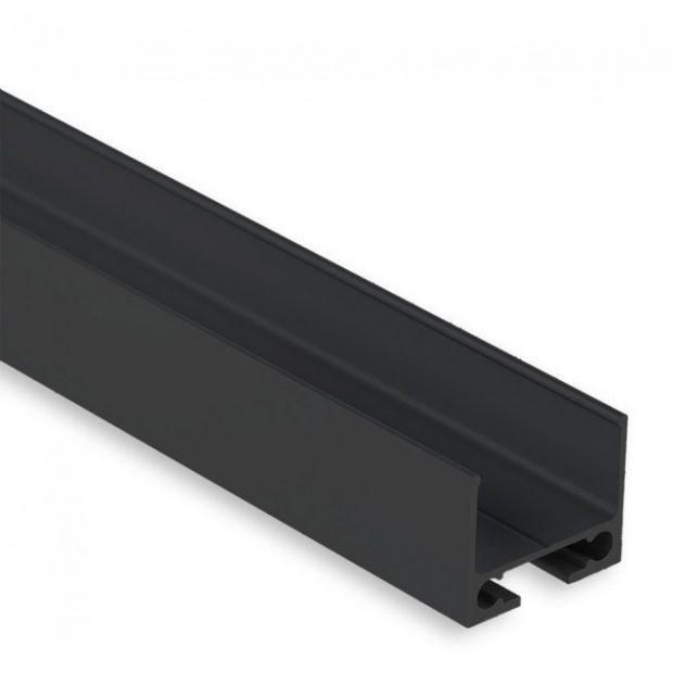 led strip kabelgoot zwart