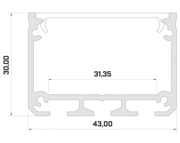 40mm led profiel