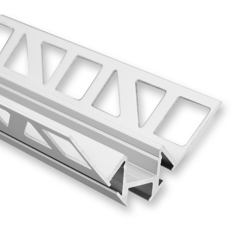 Hedendaags LED strip tegel hoekprofiel 2,5 meter P19 – Grijs - Aluminium CF-37