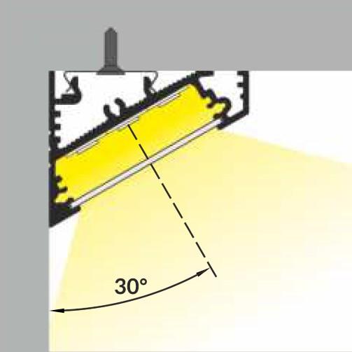 led profiel 30graden hoek