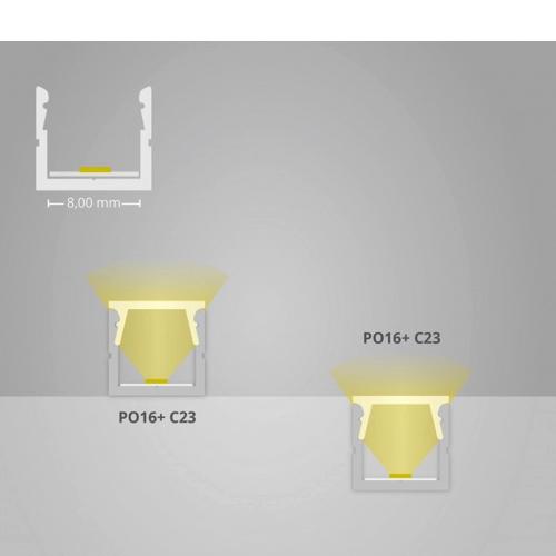 led profiel 8mm led strip