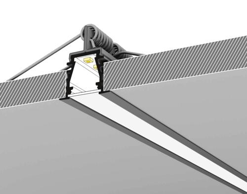 led strip profiel gyproc plafond