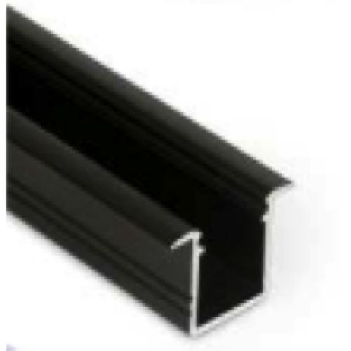 zwart inbouw led profiel