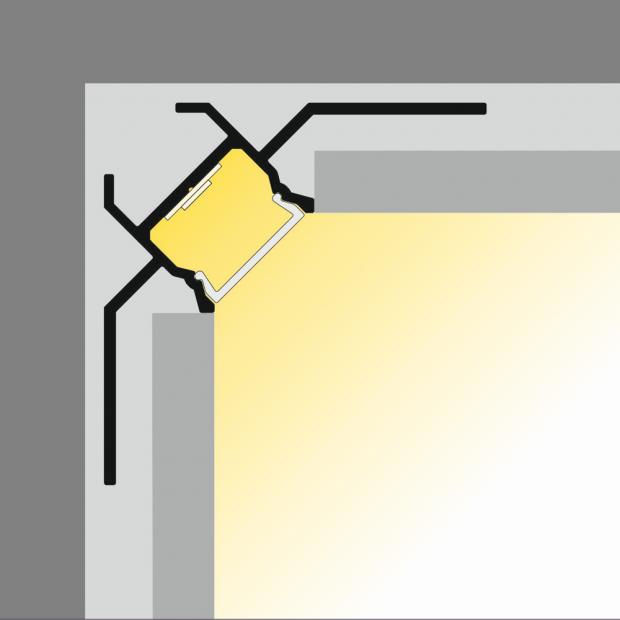 led gips profiel binnenhoek