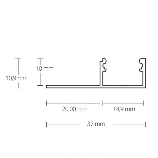 led stuc profiel stuc01 afmeting