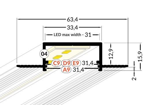 breed inbouw led profiel 3cm