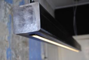metalen balk hanglamp led strips