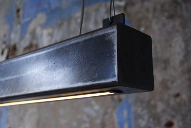 metalen balk hanglamp led uniek