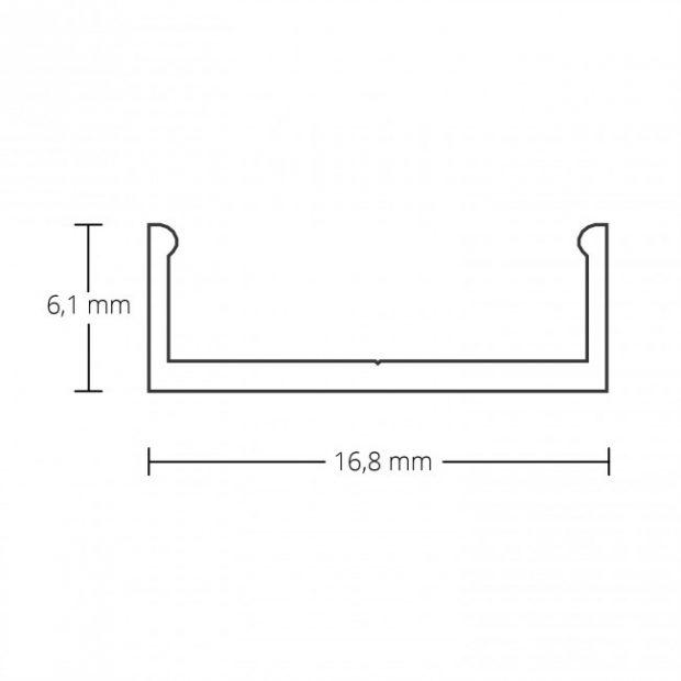 montageprofiel led strip updown aluminium