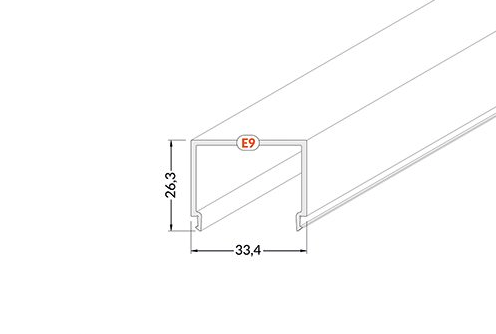 vierkante led afdekking