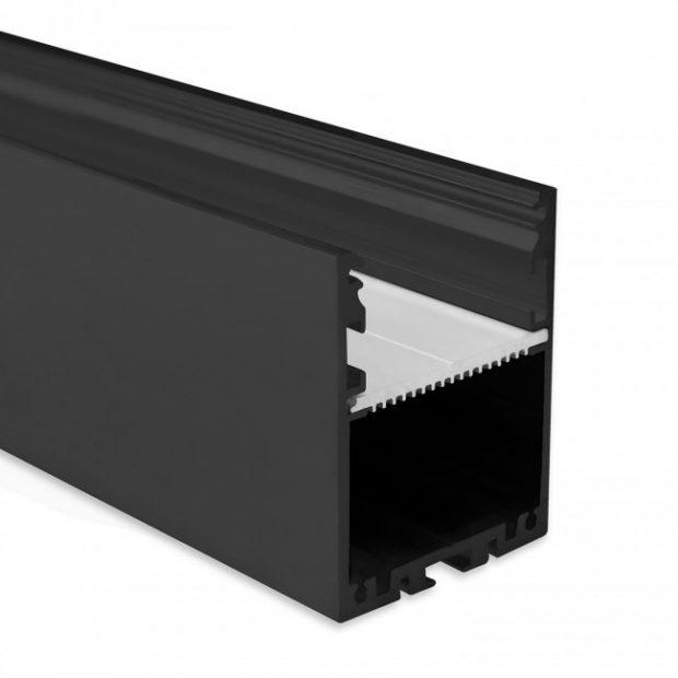 zwart led profiel 4cm