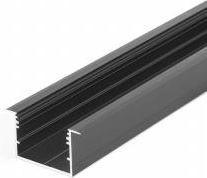 breed inbouw led profiel 50mm zwart