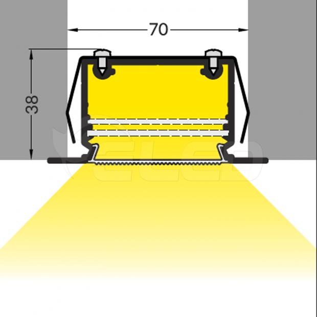 led inbouw profiel 50mm