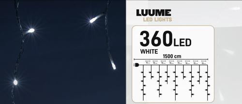 KerstXL 360 led ijspegel wit 04