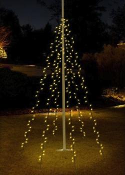 vlaggenmast verlichting kerst