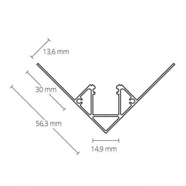 led gipsplaat profiel binnenhoek gipsplaten