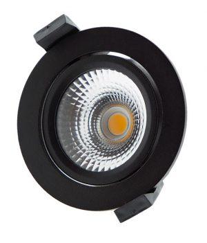 led spot zwart dimbaar 75mm