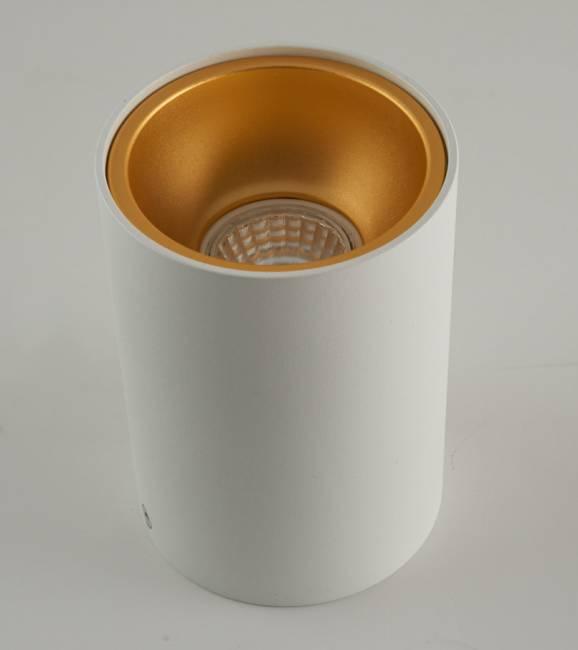 goud kleurige opbouw spot 140mm