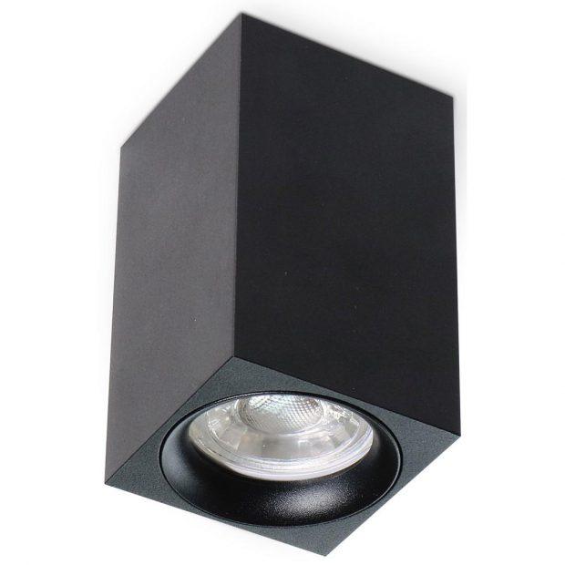 led profiel zwart vierkant gu10