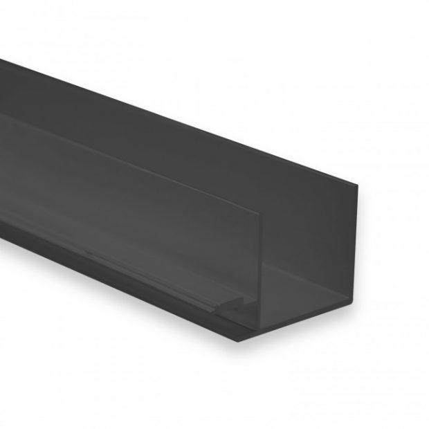 gipsplaat led profiel zwart6mm