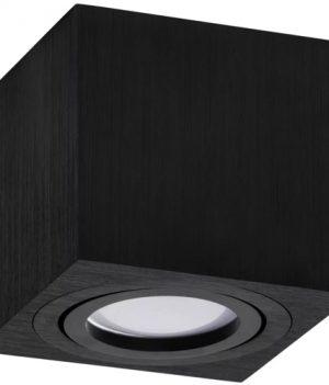 zwarte vierkante opbouw spot