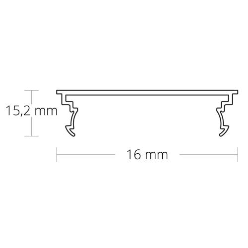 LED Linear Hangarmatuur afdekking