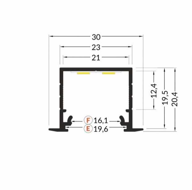 inbouw led profiel 2cm