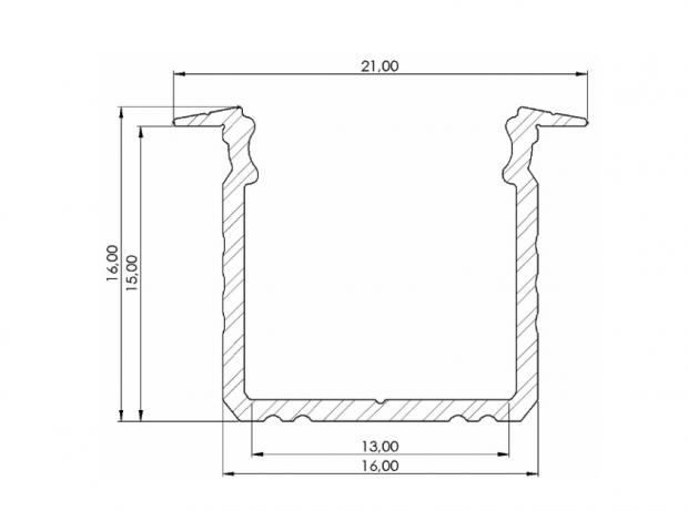 inbouw led profiel 20mm